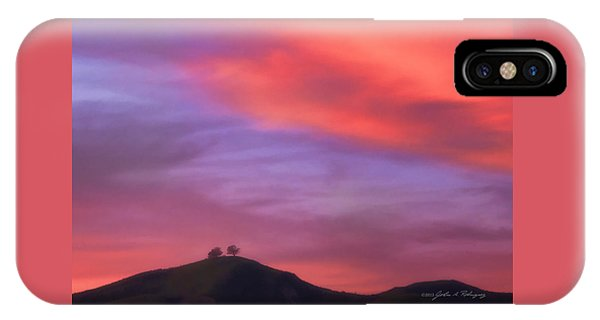 Ventura Ca Two Trees At Sunset IPhone Case