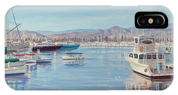 Ventura Harbor II Phone Case by Tina Obrien