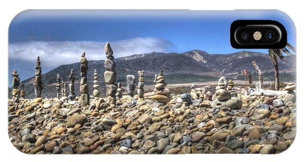 Ventura River Rock Art Panorama  IPhone Case