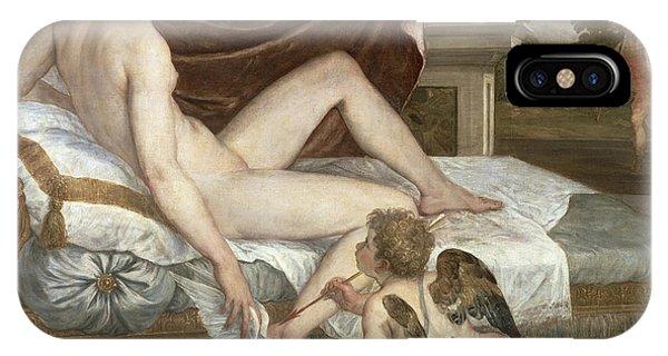 Cupid iPhone Case - Venus And Cupid by Lambert Sustris
