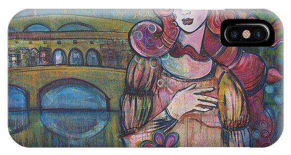 Venus And The Ponte Vecchio  IPhone Case