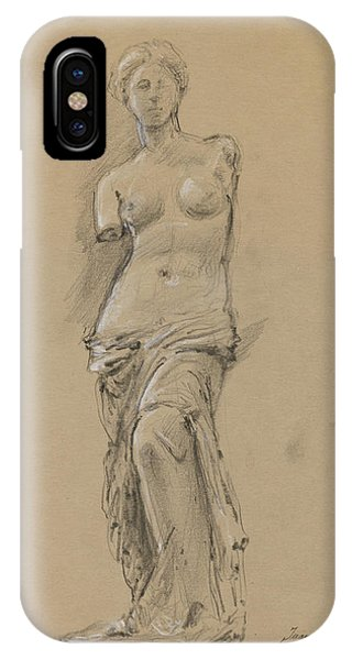The Louvre iPhone Case - Venus De Milo by Juan Bosco