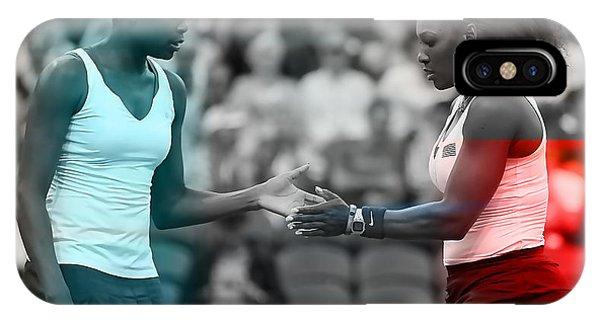 Venus Williams iPhone Case - Venus Williams And Serena Williams by Marvin Blaine