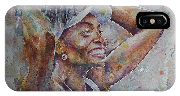 Venus Williams iPhone Case - Venus Williams - Portrait 1 by Baris Kibar