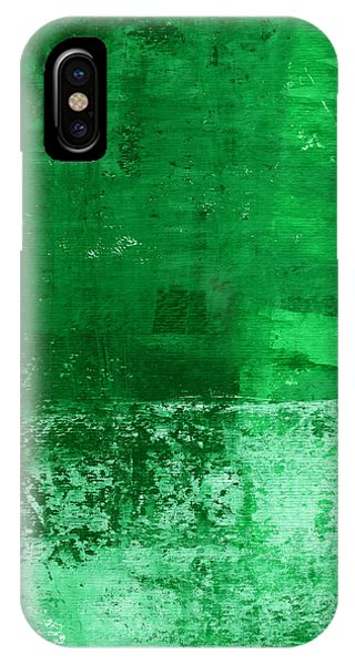 Texture iPhone Case - Verde-  Contemporary Abstract Art by Linda Woods