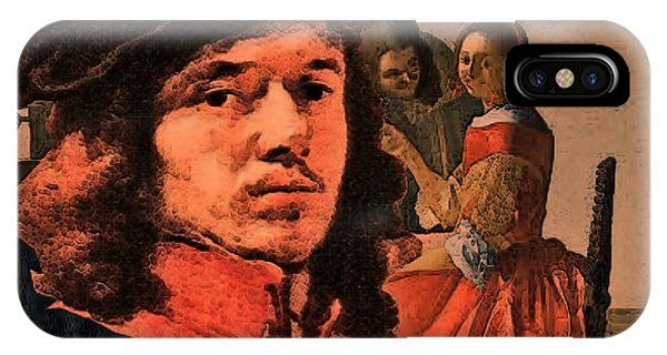 Vermeer Study In Orange IPhone Case