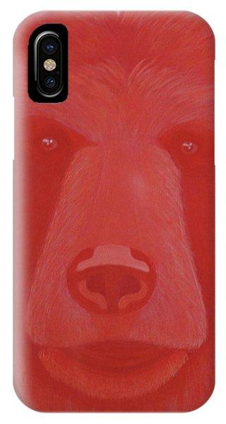 Vermillion Bear IPhone Case