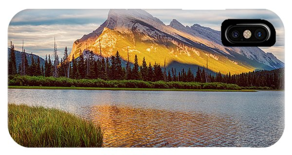 Treeline iPhone Case - Vermillion Lakes And Mt Rundle II by Joan Carroll