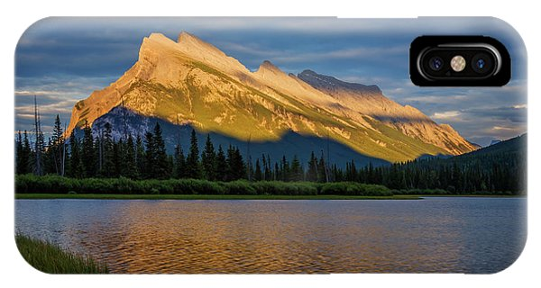 Treeline iPhone Case - Vermillion Lakes And Mt Rundle by Joan Carroll