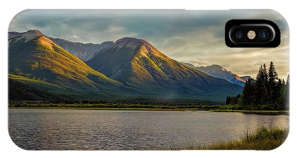 Treeline iPhone Case - Vermillion Lakes Sunset by Joan Carroll