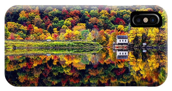 Vermont Autumn Reflections IPhone Case