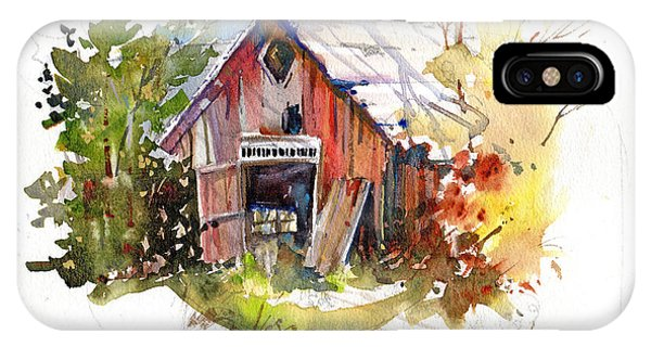 New England Barn iPhone Case - Vermont Barn by P Anthony Visco