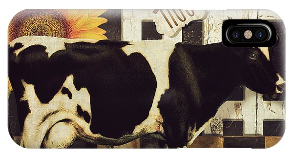 Cow iPhone X / XS Case - Vermont Farms Cow by Mindy Sommers