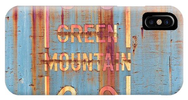 Vermont Green Mountain Railroad Rail Car Signage IPhone Case