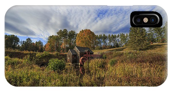 New England Barn iPhone Case - Vermont Grist Mill Panoramic by Edward Fielding