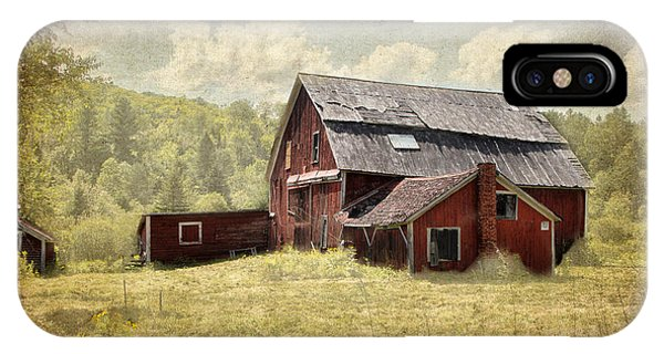 Vermont Red Barn  IPhone Case