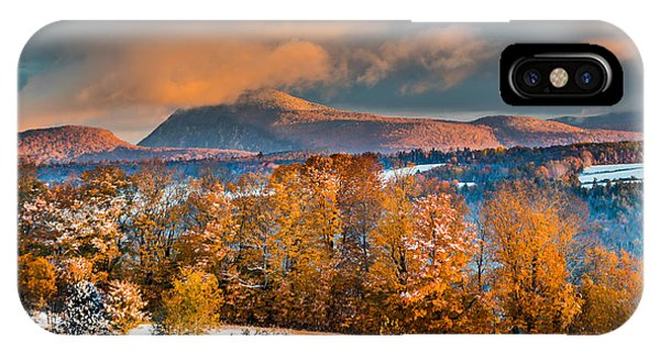Vermont Snowliage Scene IPhone Case
