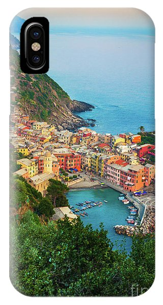 Sunset iPhone Case - Vernazza From Above by Inge Johnsson