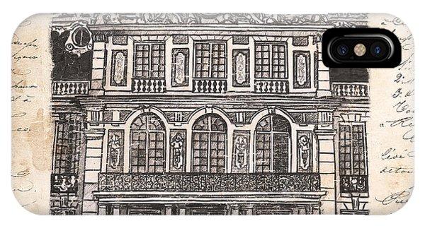 Castle iPhone X Case - Versailles by Debbie DeWitt