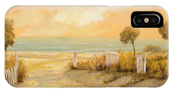 Sand iPhone Case - Verso La Spiaggia by Guido Borelli