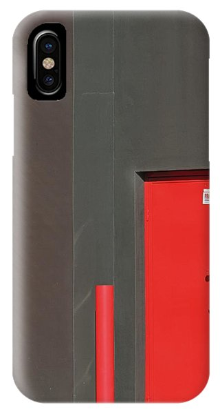Vertical Red IPhone Case