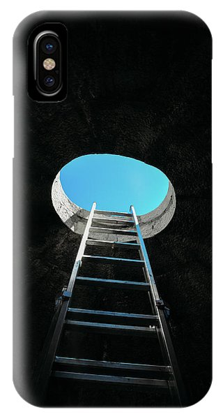 Vertical Step-ladder On Ceiling Window  IPhone Case