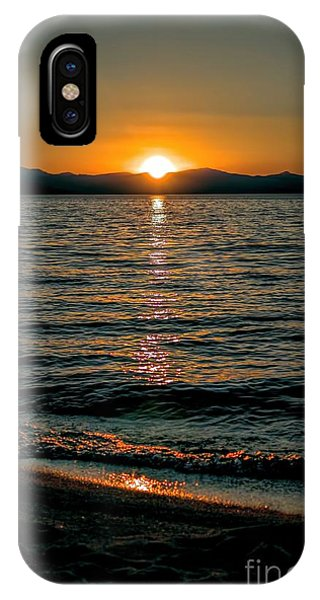 Vertical Sunset Lake IPhone Case