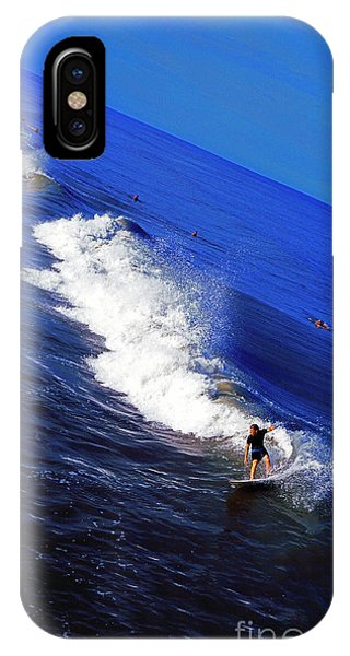 Surfer And Earths Curve  IPhone Case