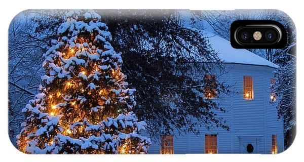 Vertical Vermont Round Church IPhone Case