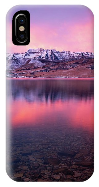 Vertical Winter Timp Reflection. IPhone Case
