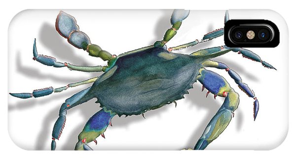 Very Blue Crab IPhone Case