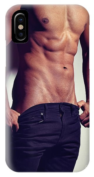 Very Sexy Man With Great Muscular Body IPhone Case