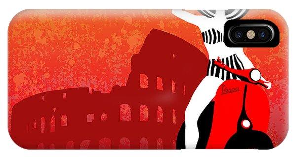 Fashion iPhone Case - Vespa Girl by Sassan Filsoof