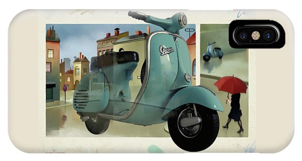 Vespa Memories IPhone Case