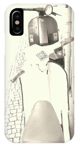 Vespa Vs Vespa In Sepia IPhone Case