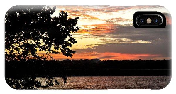 Veteran's Lake Sunset IPhone Case