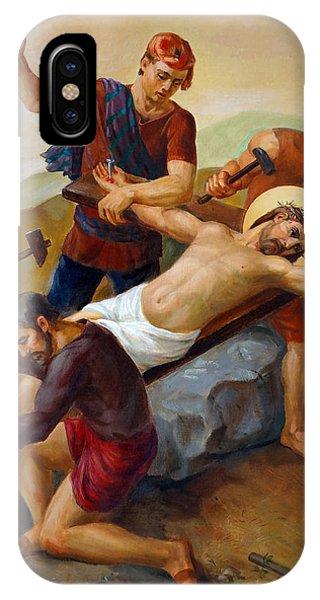 Christian Cross iPhone Case - Via Dolorosa - Jesus Is Nailed To The Cross - 11 by Svitozar Nenyuk