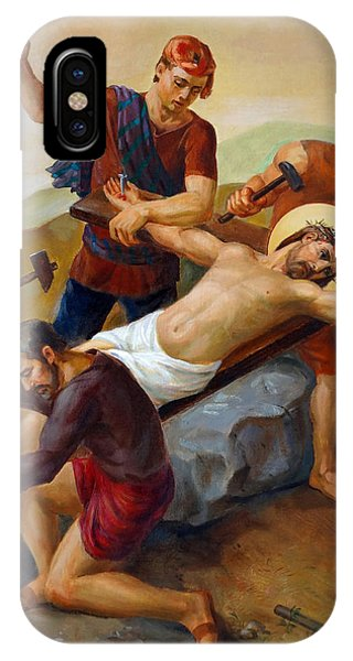 Via Dolorosa - Jesus Is Nailed To The Cross - 11 IPhone Case