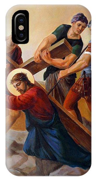 Christian Cross iPhone Case - Via Dolorosa - Stations Of The Cross - 3 by Svitozar Nenyuk