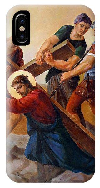 Savior iPhone Case - Via Dolorosa - Stations Of The Cross - 3 by Svitozar Nenyuk