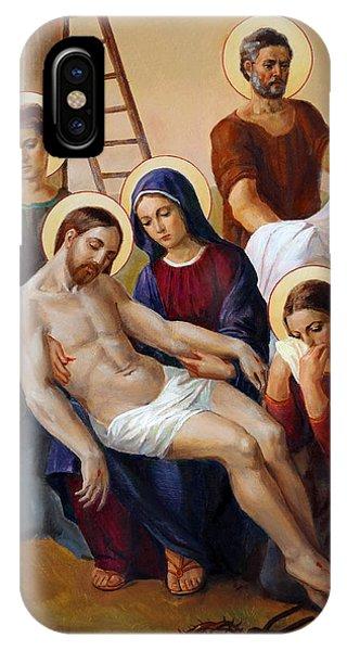Christian Cross iPhone Case - Via Dolorosa - Way Of The Cross - 13 by Svitozar Nenyuk