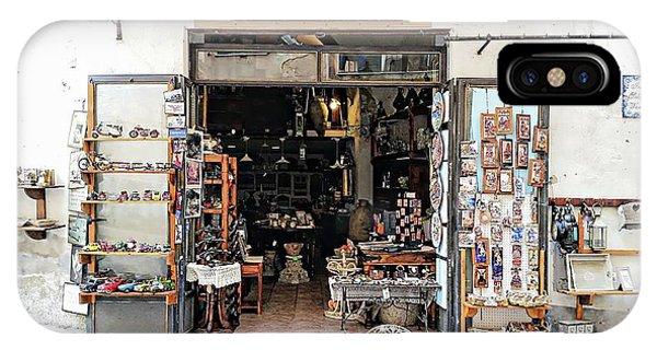 IPhone Case featuring the digital art Via Pietro Capuano Shopping - Amalfi, Italy by Joseph Hendrix