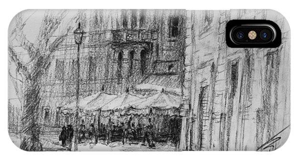 Drawing iPhone Case - Via Veneto, Rome by Ylli Haruni