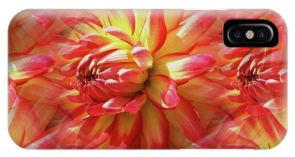 Vibrant Dahlia Petals IPhone Case