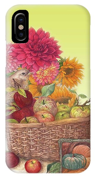 Vibrant Fall Florals And Harvest IPhone Case