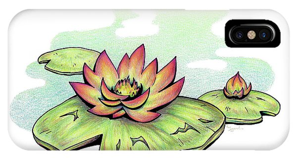 Vibrant Flower 2 Water Lily IPhone Case