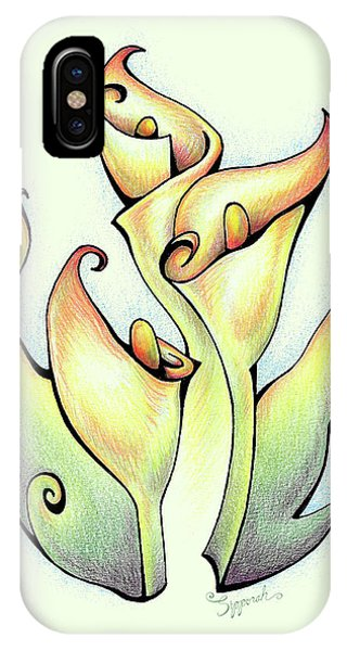 Vibrant Flower 3 Arum Lily IPhone Case