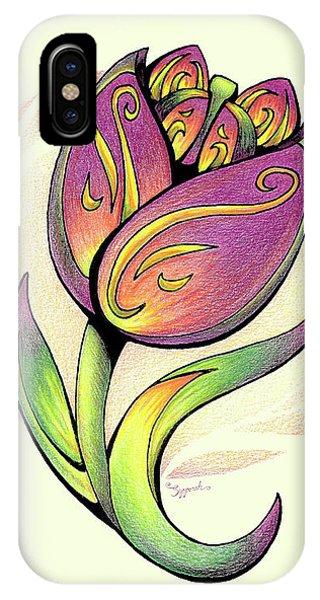 Vibrant Flower 5 Tulip IPhone Case