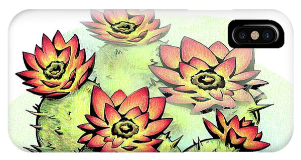 Vibrant Flower 6 Cactus IPhone Case