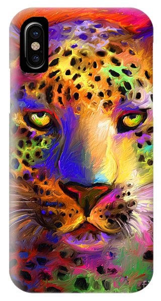 Vibrant Leopard Painting IPhone Case